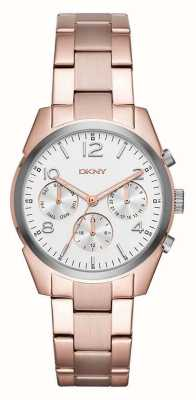 DKNY Женщин позолоченный металлический ремешок белый хронограф NY2472