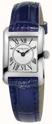 Frederique Constant Серебряный циферблат из синего кожаного ремешка для женщин FC-200MC16