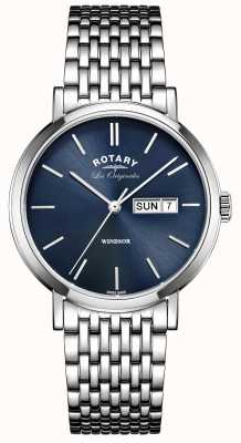 Rotary Mens les originales windsor нержавеющая сталь GB90153/05