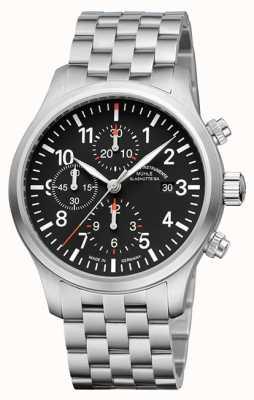 Muhle Glashutte Terrasport i хронограф, браслет из нержавеющей стали, черный циферблат M1-37-74-MB
