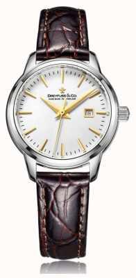 Dreyfuss Женские швейцарские часы с коричневым ремешком DLS00125/02