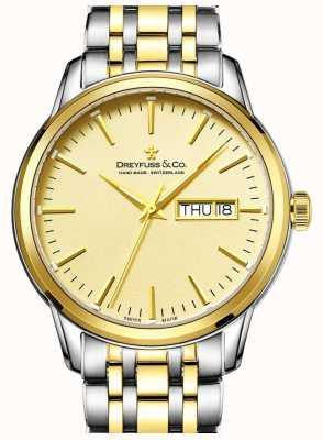 Dreyfuss Мужской dreyfuss два тона золота 1890's часы DGB00126/03