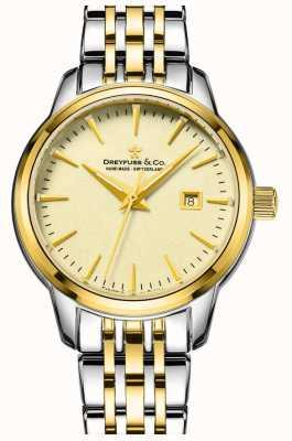 Dreyfuss 1890 - dreyfuss дамы два тона позолоченные часы DLB00126/03