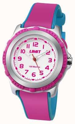 Limit Дети активных розовый полимерный ремешок белый циферблат 5599.24