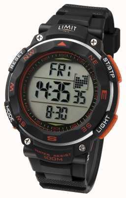 Limit Мужские спортивные часы с черным ремешком оранжевого цвета 5485.66