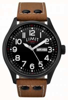 Limit Мужской коричневый кожаный ремешок черный циферблат 5492.01