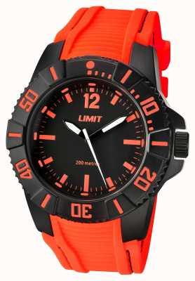Limit Мужской черный оранжевый ремешок 5547.02