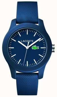 Lacoste 12.12 | унисекс темно-синий резиновый ремешок темно-циферблат 2000955