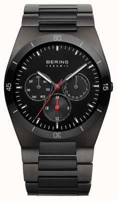 Bering Мужской черный ip покрыл черный циферблат 32341-792