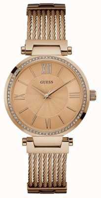 Guess Womans soho розовое золото ремень круглый розовое золото набор набора из набора W0638L4