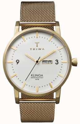 Triwa Unisex ivory klinga золотой сетчатый металлический ремешок KLST103-ME021313
