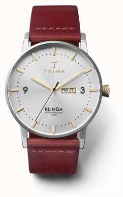 Triwa Unisex gleam klinga tan кожаный ремешок серебристый циферблат KLST104-CL010312