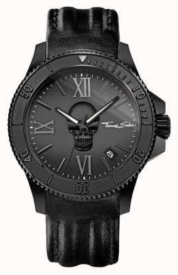 Thomas Sabo Мужская повстанческая икона черный кожаный ремешок черный стальной корпус WA0278-213-203-44