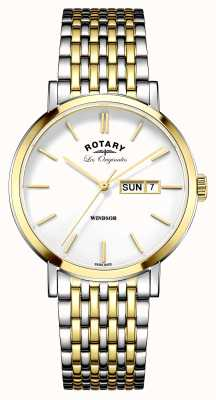 Rotary Mens les originales windsor два тона GB90154/01