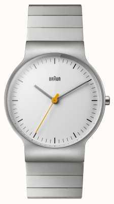 Braun Мужская браслет из нержавеющей стали белого набора BN0211SLBTG