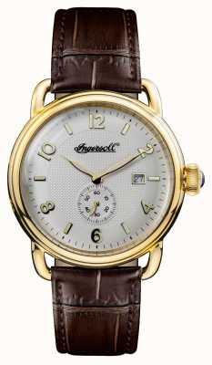 Ingersoll Mens 1892 новый коричневый кожаный коричневый циферблат I00803