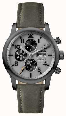 Ingersoll Мужские открытия серый серый серый кожаный ремешок I01401