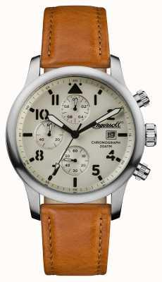 Ingersoll Мужские открытия хэттон коричневый кожаный ремешок I01501