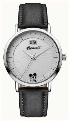 Disney By Ingersoll Женский союз - черный кожаный ремешок ID00501