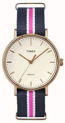 Timex Womans weekender fairfax темно-синий ремень TW2P91500