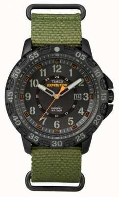 Timex Мужская галатина зеленая ткань ремешок черный циферблат TW4B03600
