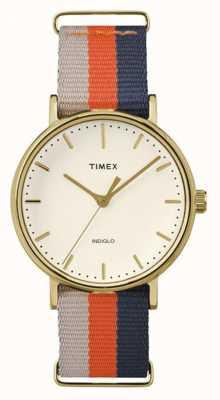 Timex Unisex weekender fairfax оранжевый коричневый ремешок TW2P91600