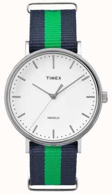 Timex Unisex weekender fairfax темно-синий ремень TW2P90800