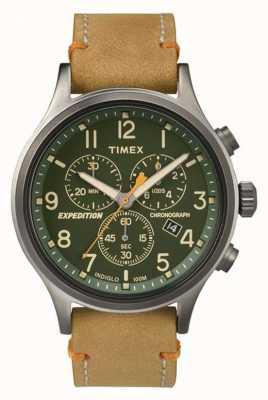 Timex Мужская разведка хронограф зеленый циферблат TW4B04400