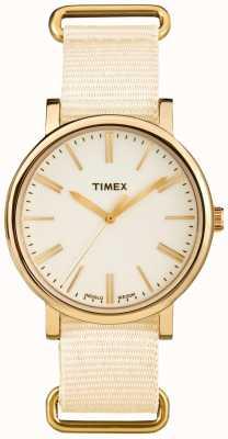 Timex Кремовый ремешок из кремового крема для унисекса TW2P88800