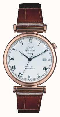 J&T Windmills Мужские часы из броненосца с механическим розовым золотом WGS50001/01