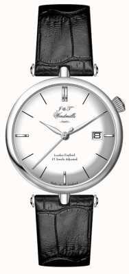 J&T Windmills Мужские резьбовые меченые серебряные часы WGS10003/06