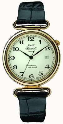 J&T Windmills Позолоченные механические часы Mens throgmorton WGS50002/18