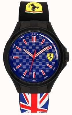 Scuderia Ferrari Mens ямы экипаж флаг флаг резиновый ремешок синий циферблат 0830351