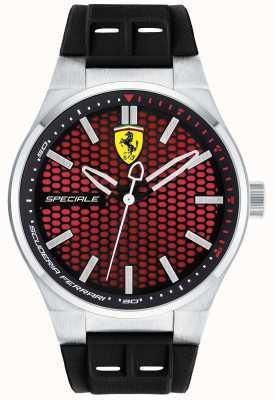 Scuderia Ferrari Мужской специальный черный резиновый ремешок красный циферблат 0830353