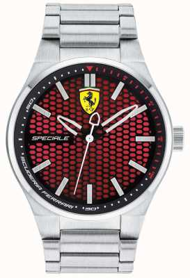 Scuderia Ferrari Мужская специальная нержавеющая сталь браслет красный циферблат 0830357