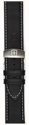 Elliot Brown Мужская 22мм черная матовая кожа STR-L02