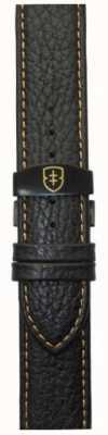 Elliot Brown Мужская 22мм черная галька с кожаной ручкой STR-L11