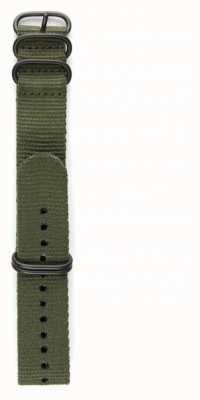 Elliot Brown Мужская 22 мм оливковая баллистическая нейлоновая металлическая сетка STR-N01