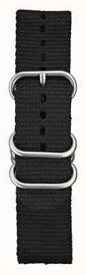 Elliot Brown Мужское 22мм черное баллистическое нейлоновое шлифованное оборудование STR-N03