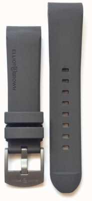 Elliot Brown Мужская 22мм серая резиновая стальная язычная пряжка STR-R02