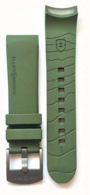 Elliot Brown Мужская 22мм зеленая резиновая пуговица STR-R04