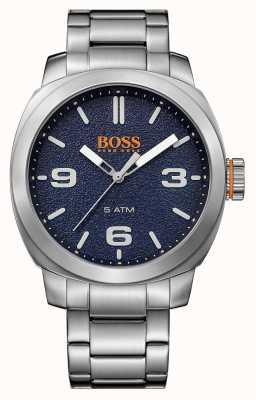 Hugo Boss Orange Мужская накидка из нержавеющей стали браслет синий циферблат 1513419