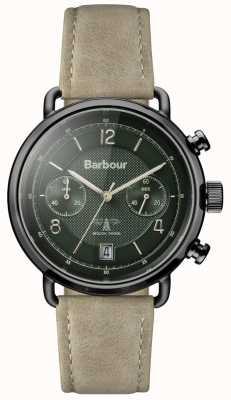 Barbour Мужская салисбери хаки кожаный ремешок зеленый циферблат BB053GRKH