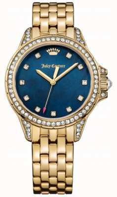 Juicy Couture Женская малибу золотой тон из нержавеющей стали голубой перламутр 1901492
