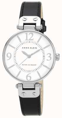Anne Klein Черный черный кожаный ремешок 10/N9169WTBK