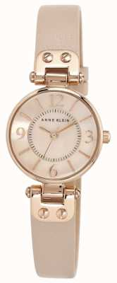 Anne Klein Жесткий кожаный ремешок для женщин 10/N9442RGLP