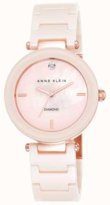 Anne Klein Женская розовая керамическая ремешок розовая перламутровая циферблат AK/N1018PMLP