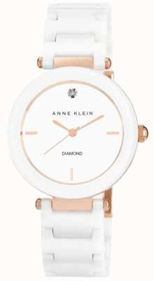 Anne Klein Белый белый керамический ремешок белого циферблата AK/N1018RGWT