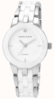 Anne Klein Белый белый керамический ремешок белого циферблата AK/N1611WTSV
