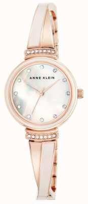 Anne Klein Женщин розового золота тона браслет перламутровый циферблат AK/N2216BLRG